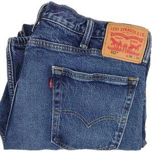 Levi's 512 Slim Taper Destroyed Denim Jeans 38x33
